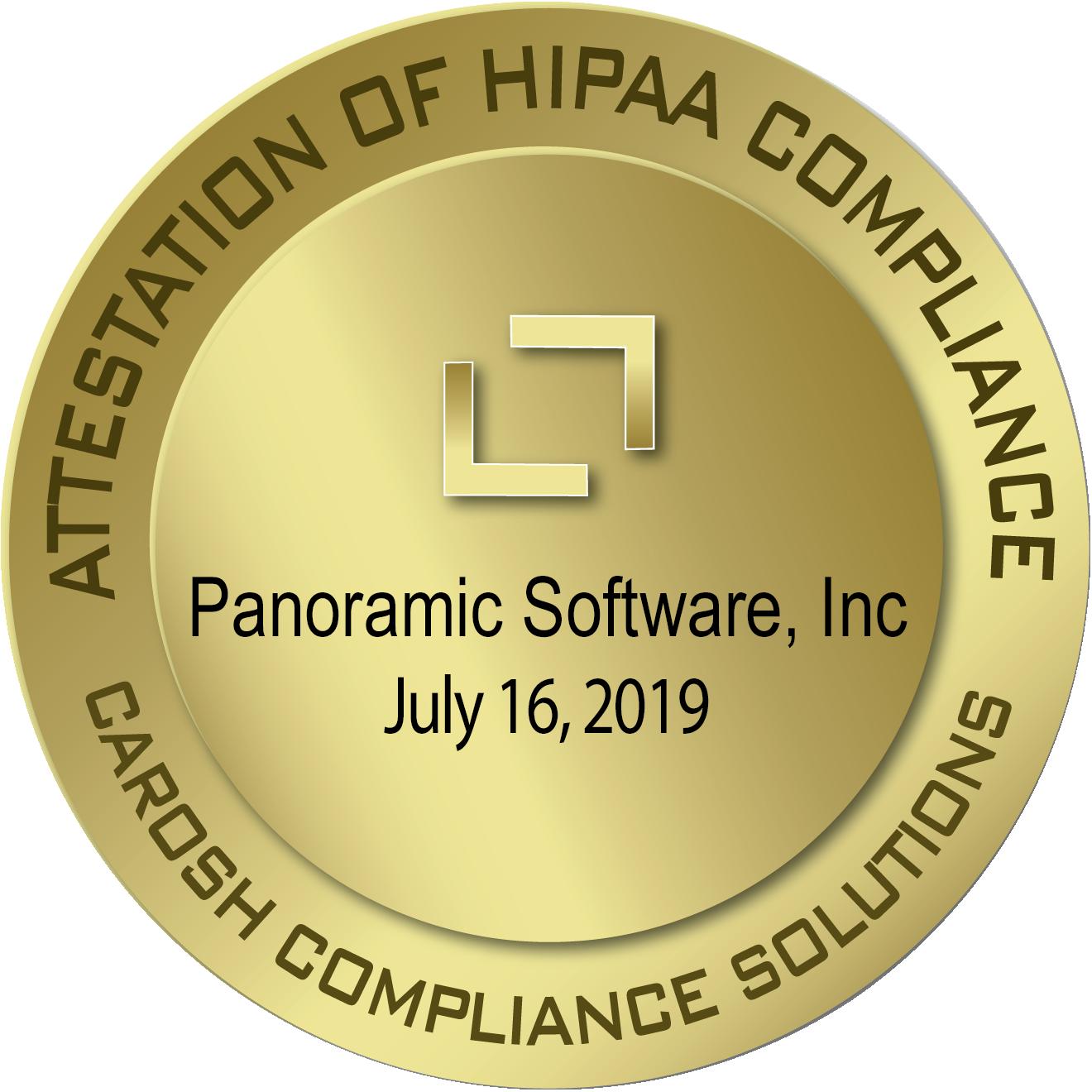 Panosoft HIPAA Compliance